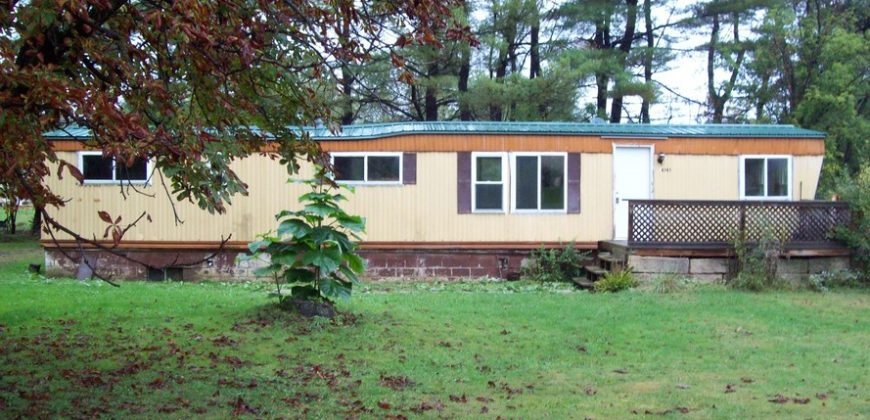 Small two bedroom mobile home